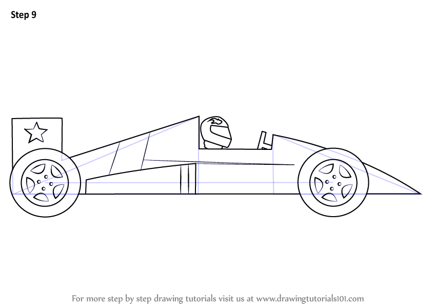 learn how to draw a racing car for kids  sports cars  step