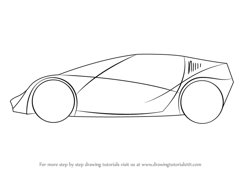 Learn How To Draw A Sports Car For Kids Sports Cars Step By Step