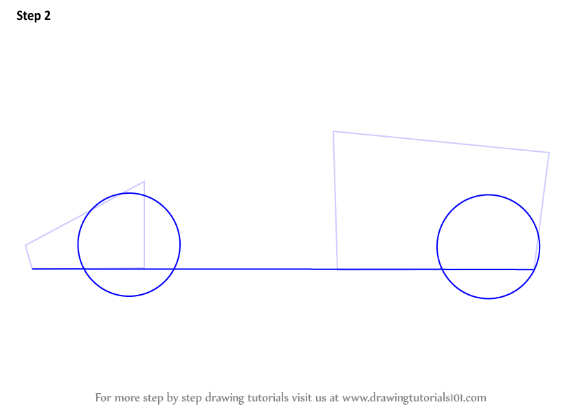 how to draw a toy car step by step