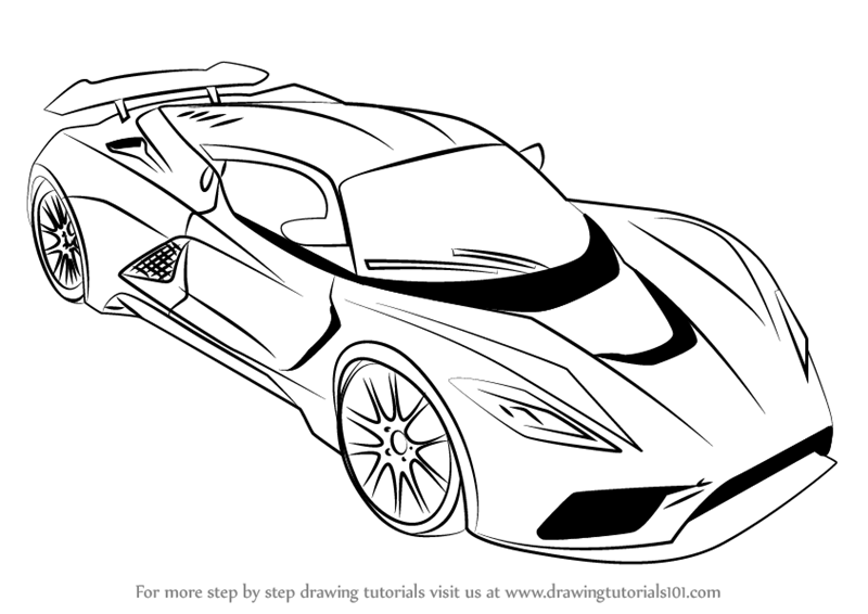 learn how to draw venom f5 sports cars step by step drawing tutorials. Black Bedroom Furniture Sets. Home Design Ideas