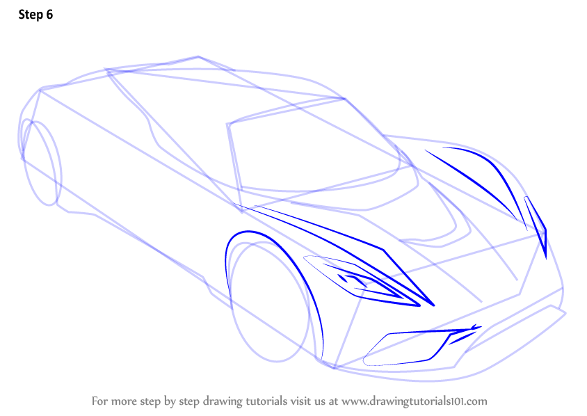 how to draw the disney cars logo step by step