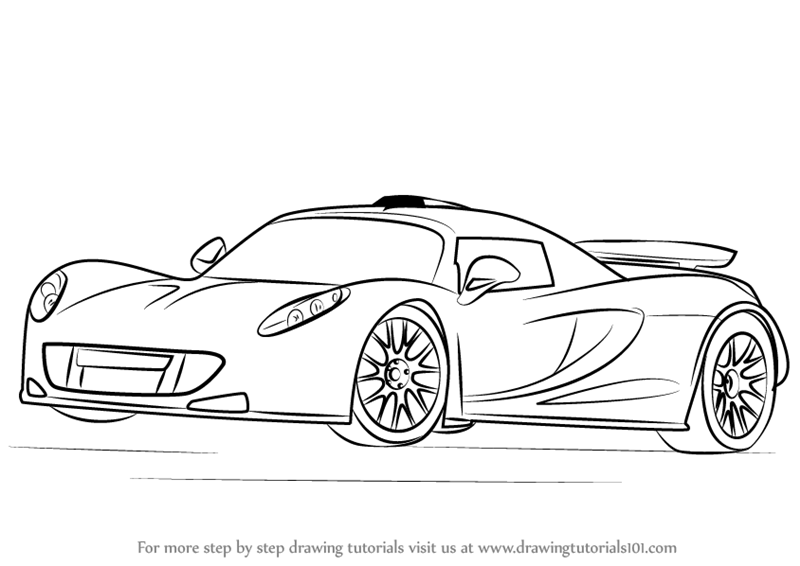 Learn How to Draw Venom GT Sports