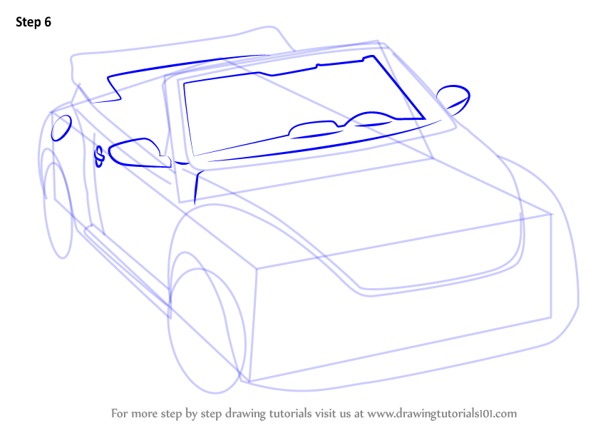 Learn How to Draw Volkswagen Beetle Convertible (Sports Cars) Step by Step : Drawing Tutorials
