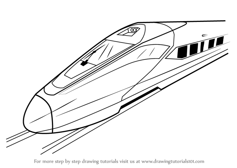 Learn How to Draw a High Speed Electric Train (Trains ...