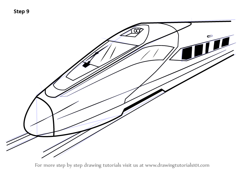 learn how to draw a high speed electric train  trains