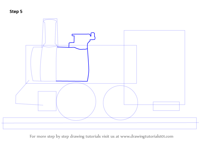 how to draw an engine step by step pdf