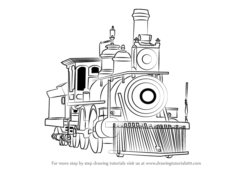 how to draw a steam locomotive  3  add the windows
