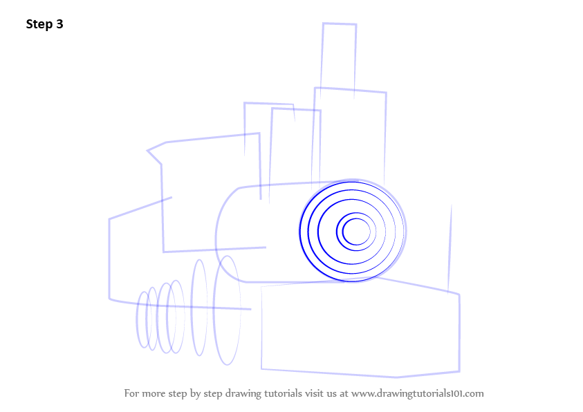 Learn How to Draw Steam Locomotive (Trains) Step by Step