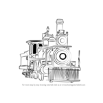 How to Draw Steam Locomotive
