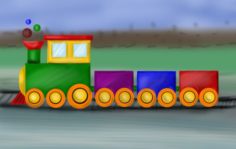 Learn How to Draw a Train for Kids (Trains) Step by Step : Drawing ... How To Draw A Train For Kids Step By Step