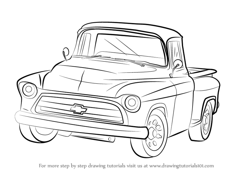 Learn How To Draw A 1955 Chevy Truck Trucks Step By Step Drawing