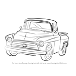 learn how to draw a truck for kids trucks step by step drawing tutorials. Black Bedroom Furniture Sets. Home Design Ideas