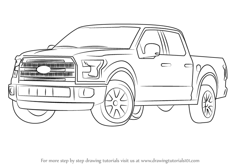 Ford F250 Drawings on chevy van coloring pages
