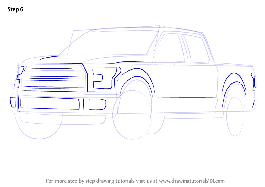 how to draw a transport truck