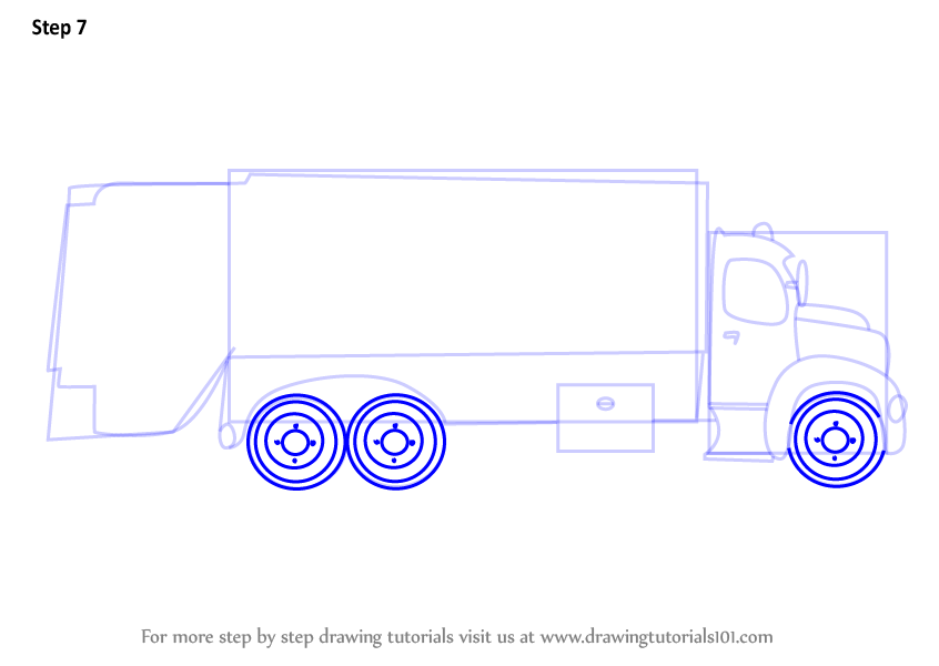 Learn How To Draw Garbage Dumper Truck Trucks Step By