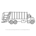 How to Draw Garbage Dumper Truck
