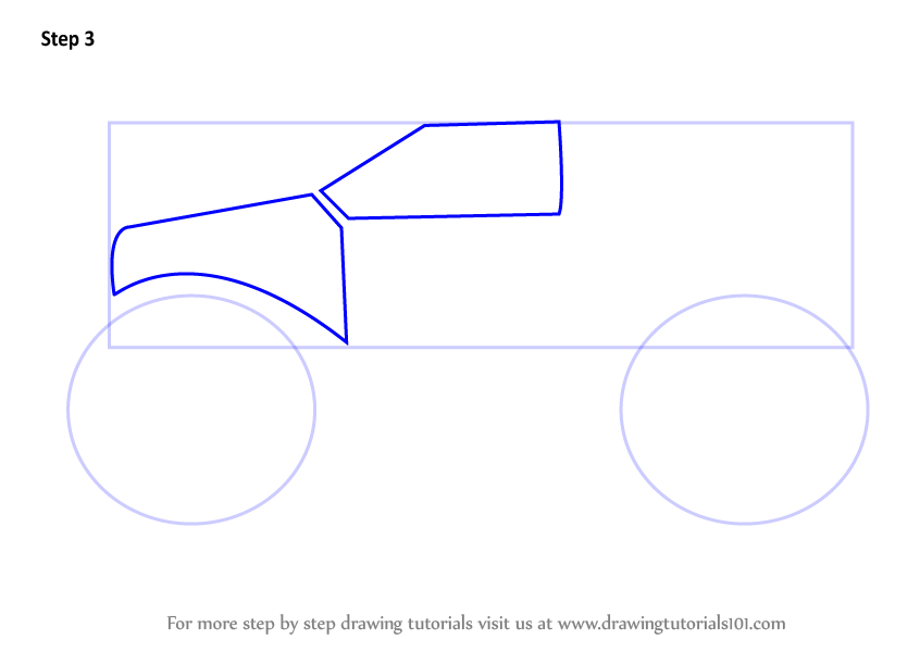how to draw monster jam trucks