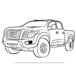 How to Draw Nissan Titan Warrior Truck