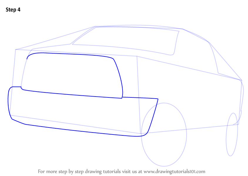 how to draw a chevy truck step by step
