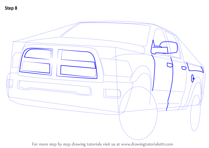 Learn How To Draw A Ram Truck Trucks Step By Step