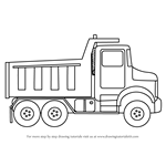 How to Draw Simple Dump Truck