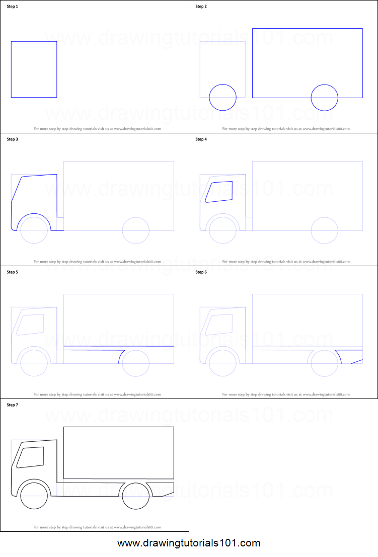 Uncategorized How To Draw A Truck Step By Step how to draw a truck for kids printable step by drawing sheet kids