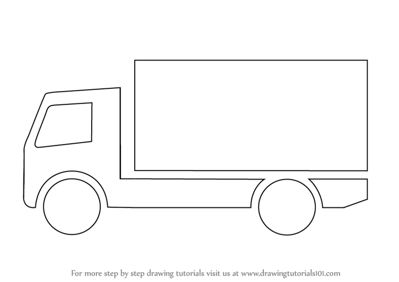 Learn How To Draw A Truck For Kids Trucks Step By Drawing