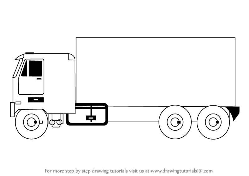 Box Truck Drawings Box Free Engine Image For User Manual
