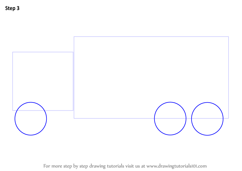 learn how to draw a truck  trucks  step by step   drawing tutorials