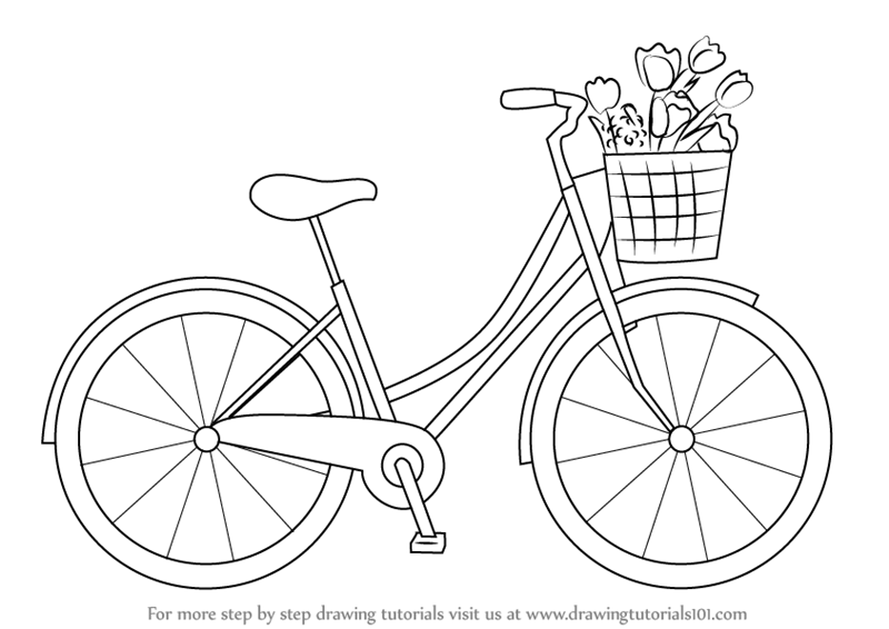 learn how to draw a cute bicycle two wheelers step by step drawing tutorials
