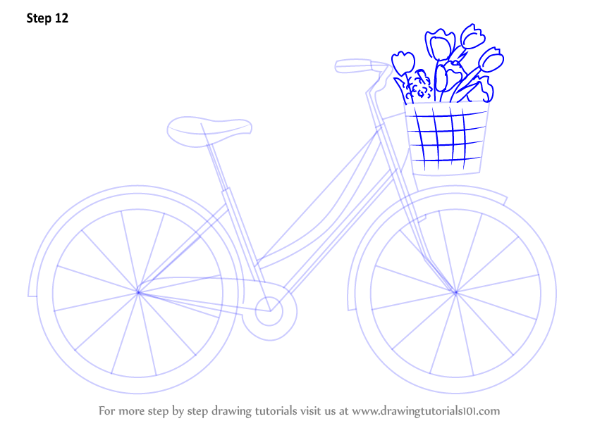learn how to draw a cute bicycle two wheelers step by