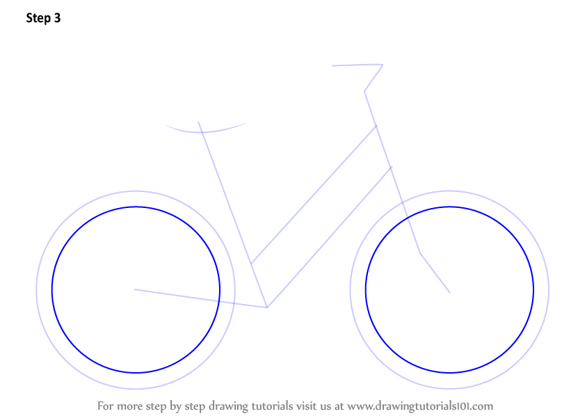how to draw a bmx bike step by step