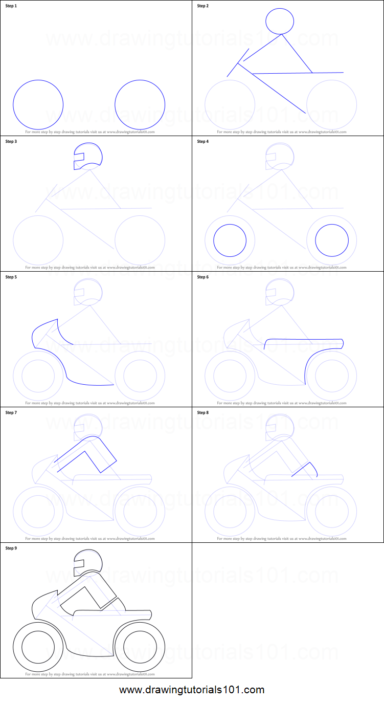 Uncategorized How Do You Draw A Motorcycle how to draw a motorcycle for kids printable step by drawing sheet drawingtutorials101 com