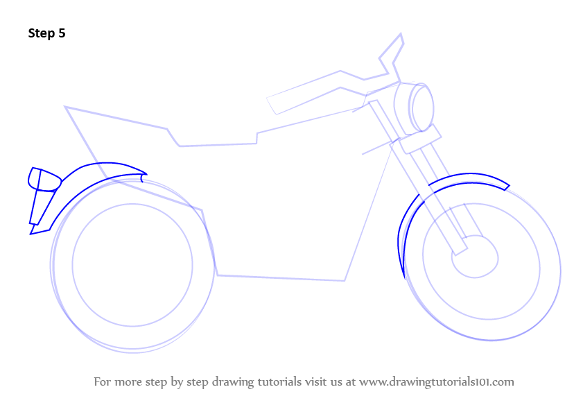 Learn How to Draw a Motorcycle (Two Wheelers) Step by Step