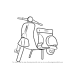 How to Draw Vespa Scooter