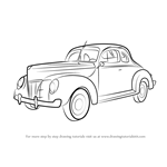 How to Draw 1940 Ford Deluxe