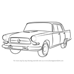How to Draw Borgward P100 Car