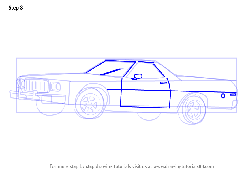 Step by Step How to Draw an Old Car : DrawingTutorials101.com