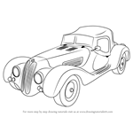 How to Draw Vintage BMW Roadster