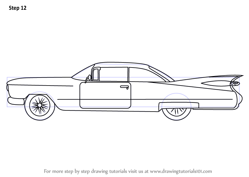 learn how to draw a vintage cadillac  vintage  step by