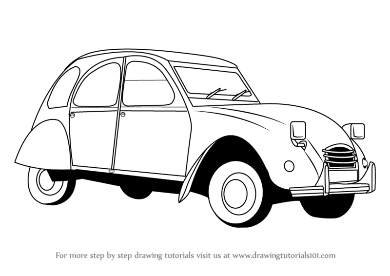 Learn How To Draw A Vintage Car Vintage Step By Step Drawing