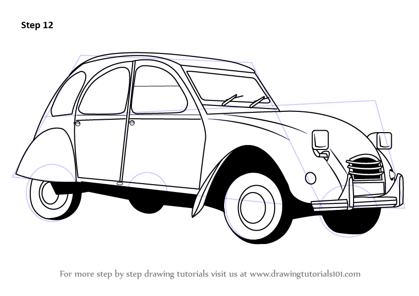 Learn How to Draw a Vintage Car (Vintage) Step by Step : Drawing ...