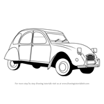 How to Draw a Vintage Car