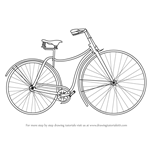How to Draw Vintage Cycle