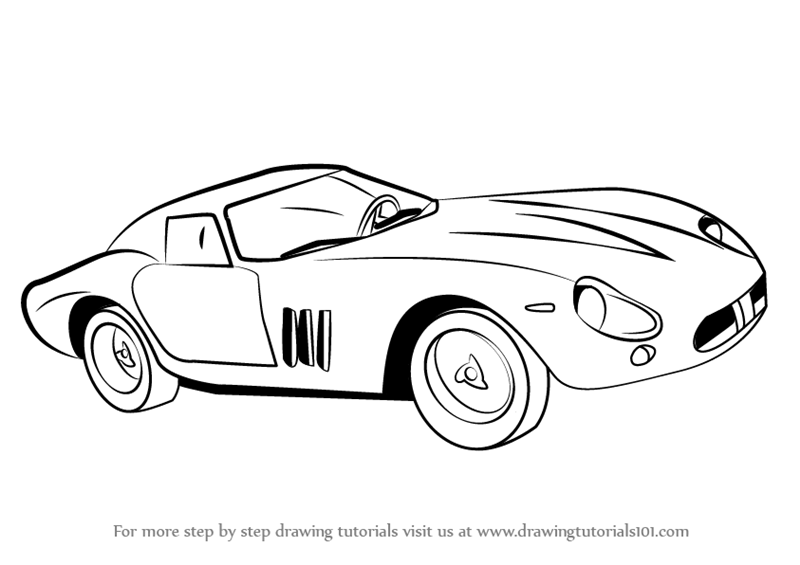 Learn How to Draw Vintage Ferrari (Vintage) Step by Step