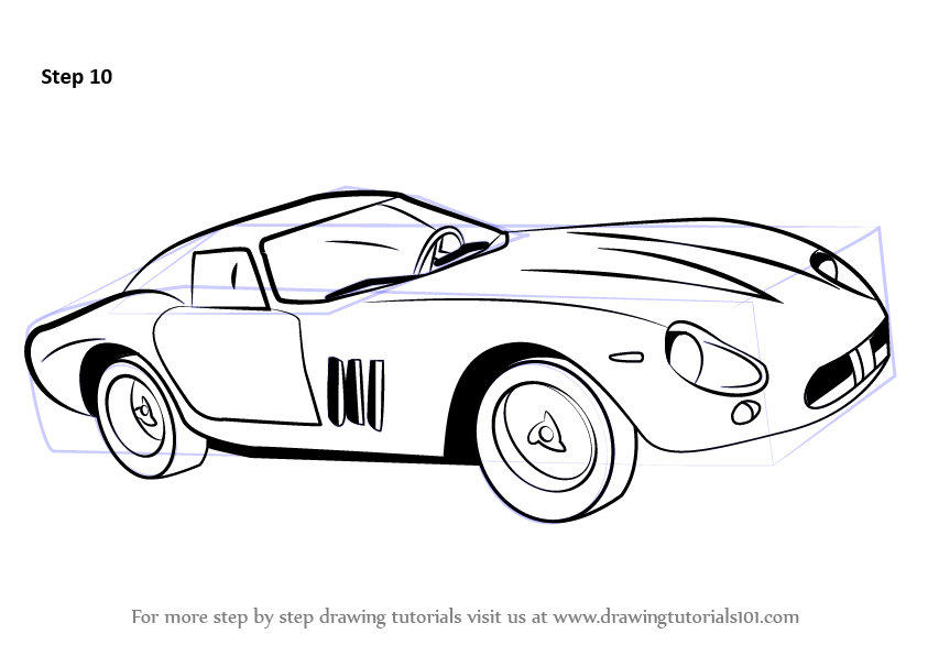 Learn How To Draw Vintage Ferrari Vintage Step By Step