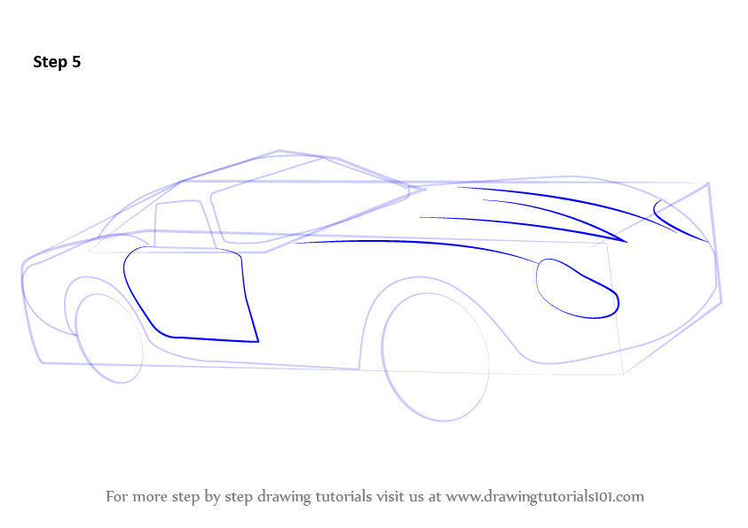 Draw Back Side Door Shape As Shown Also Outline For The Headlights