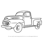 How to Draw Vintage Truck v2