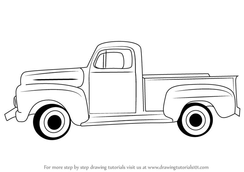 learn how to draw a vintage truck  vintage  step by step