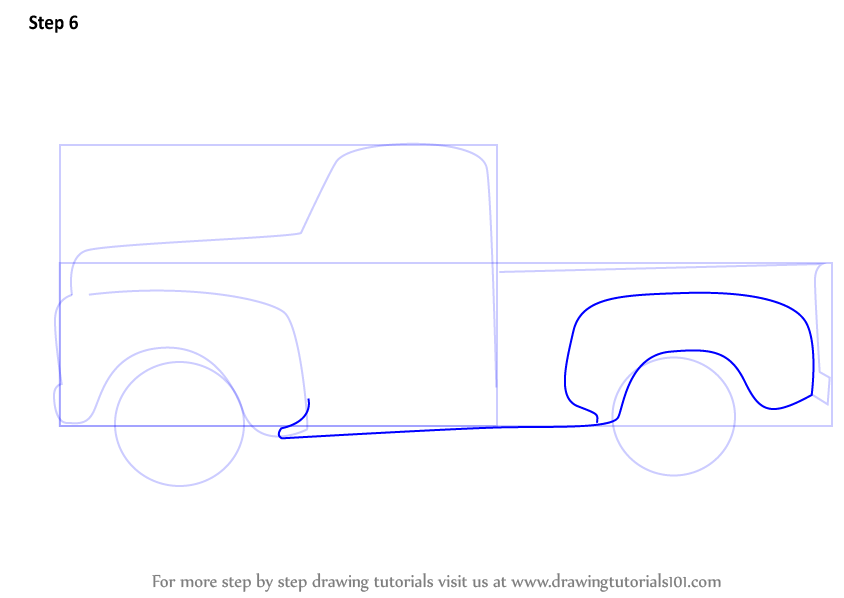 Learn How to Draw a Vintage Truck (Vintage) Step by Step : Drawing ...